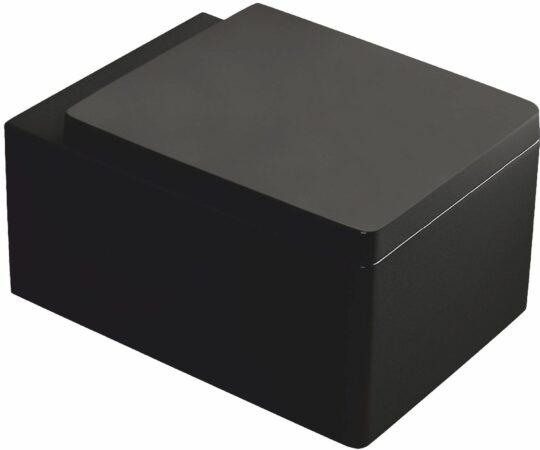 Afbeelding van Kerra Thor zwart hangend toilet 38,5x52,5cm inclusief zitting
