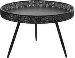 Zwarte Mica Decorations ronde tafel zwart maat in cm: 45,5 x 70