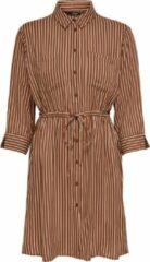 Bruine ONLY ONLTAMARI 3/4 SHIRT DRESS WVN NOOS Dames T-Shirt jurk - Maat 34