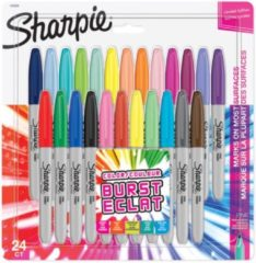 Sharpie permanente marker colour burst, fijne punt, blister van 24 stuks in geassorteerde kleuren