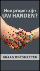 Roze MatStyles Vloerkleed Tapijt Message Mat - Hoe proper zijn uw? - 150x85- COVID-19 - Wasbaar