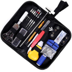 Meco 147 PCS Watch Tools Watch Repair Kit Spring Bar Back Case Opener Tool Set with Carrying Case