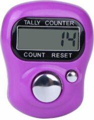 Firsttee Digitale Scoreteller - Compact - Teller - Personenteller - Handteller - Counter strike - Tally counter - Golf sport - Slagenteller - Golf accessoires - Golftrainingsmateriaal - Golf training - Golftrolley - Cadeau - Golfset - Paars