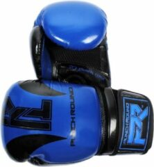 PunchR™ Punch Round Bokshandschoenen SLAM Blauw Zwart 16 OZ Bokshandschoenen
