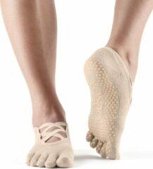 Huidskleurige Toe Sox Antislip Sokken Elle Met Tenen Nude - ToeSox