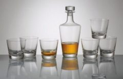 Transparante Bohemia crystal Kristallen whisky set Jive 7 delig
