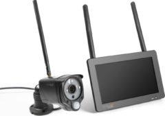 """Technaxx TX-128 Bewakingscamera set met 7"""" Touchscreen - FullHD indoor / outdoor camera - opnamefunctie, infrarood, App bediening"""