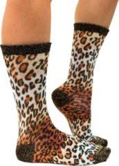 Sock My Feet - Grappige sokken dames - Maat 36-38 - Sock My Lynx - Lynx sokken - Funny Socks - Vrolijke sokken - Leuke sokken - Fashion statement - Gekke sokken - Grappige cadeaus - Socks First.