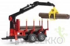 Rode Bruder 02252 - bosbouwaanhanger met laadkraan en grijper - Aanhanger