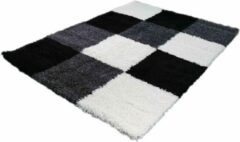 Grijze Merinos Hoogpolig Vloerkleed Shaggy Plus 910 Grey 160 x 230 cm