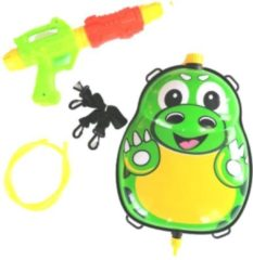 Funny Toys Waterpistool Met Tank 35,5 Cm Groen/geel 5-delig