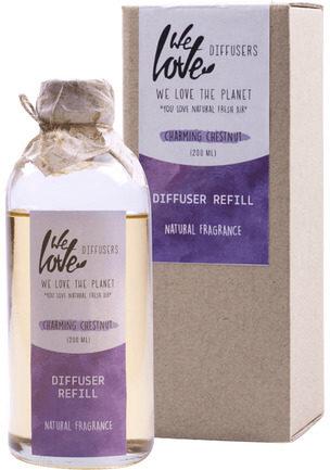Afbeelding van We Love the Planet Huisparfum Geurstokjes Charming Chestnut (Navulfles - 200 ml)