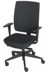 Schaffenburg serie 350 NEN-EN 1335 gecertificeerde bureaustoel. Rug en zitting stof zwart