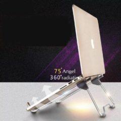 Zilveren LOUZIR Opvouwbare Draagbare Aluminium Laptop Stand - Verstelbare Kijkhoek/Hoogte - Ondersteuning 10-17 inch - Notebook