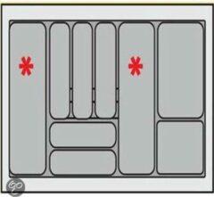 Zilveren Bestekbak Organiser universeel inzetbaar, 701 - 800 mm breed, 441 - 520 mm diep.
