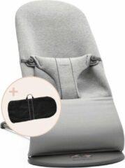 Licht-grijze BabyBjörn BABYBJÖRN Wipstoel Bliss - Lichtgrijs 3D Jersey incl Transporttas Zwart