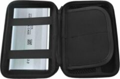 AA Commerce Harde Schijf Hard Cover Tas - Externe HDD / SDD Hoes - Harddisk Beschermhoes Carry Case - 2.5 Inch - Zwart