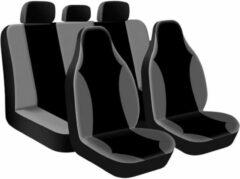 VOLKSWAGEN Stoelhoezenset 'Street Racer High' Zwart / Grijs (9-delig) (ook geschikt voor Side-Airbags)