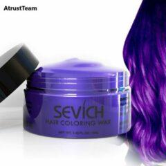 AtrustTeam – Kleur Haar Wax- Haarwax-HaircolorWax – Direct natuurlijke haarkleur, Natuurlijke ingrediënten Wasbaar-Feest wax –Tijdelijke Haarkleur-Carnaval- Moderne look- Haarcrème-Natuurlijke product -Waterbasis –Kleur:Paars -Nieuw 2020