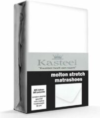 Witte Kasteel Molton Hoeslaken 180x200 Met 30cm Hoek Hoogte