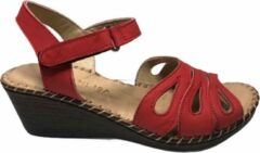 Manlisa dames velcro sandaal rood 37
