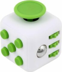 AWR Kwalitatieve Fidget Cube / FriemelKubus   Anti Stress Speelgoed   Fidget Toy - Wit-Groen