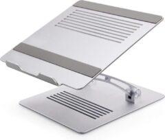 Zilveren Adella Ergonomisch Verstelbare Laptopstandaard - voor MacBook en laptop tot 17 inch - Stevige Aluminium Laptopstandaard