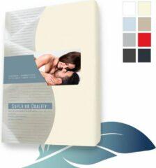 24-Bedding Hoeslaken splittopper topdek Jersey elastaan - Beige 200X210 cm