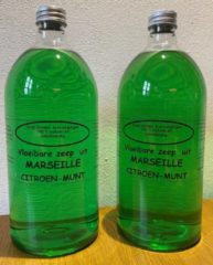 Provendi Vloeibare Marseille zeep, navulling 2 x 1000 ml Citroen-munt