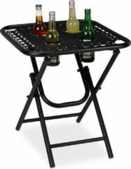 Zwarte Relaxdays campingtafel inklapbaar - camping tafel - vouwtafel - klaptafel - balkontafel