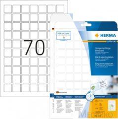 Etiketten Herma 8339 slijtvast A4 24x24 mm wit vast hechtend folie mat weerbestendig 1750 st.
