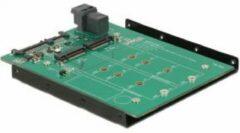 DeLOCK 3.5″ Converter SATA 22 pin / SFF-8643 NVMe > 1 x M.2 NGFF Key M + 1 x (62704)