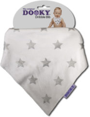 Zilveren Dooky Dribble Bib - Silver Star 2 Pack