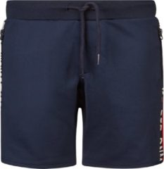 Retour Denim regular fit sweatshort Lars met zijstreep donkerblauw/rood/wit