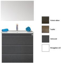 Badkamermeubelset Sanicare Q7 Drie Soft-Close Laden Greeploos 75 cm (alle kleuren, spiegel optioneel)