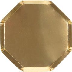 Meri Meri   Borden   Goud   8 stuks   16cm
