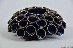 Waxinelichthouder Scabisa Blauw van Daan Kromhout Design: 13 x 6 cm