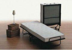 Creme witte Bedworld Logeerbed / opklapbed - 90x200 - 12cm dik matras - Spiraal bodem