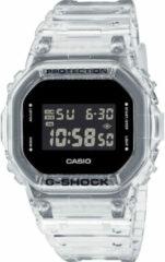 Casio - G Shock - Uniseks digitaal horloge met transparant bandje DW-5600SKE-7ER-Doorzichtig