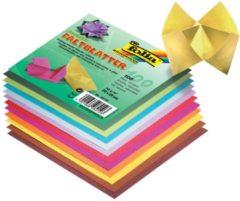 Vouwbladen Folia 20x20cm assorti kleuren 70gr pak a 100 vel
