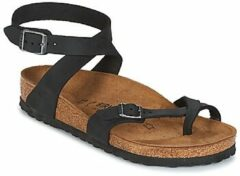Zilveren Birkenstock YARA OILED-LEATHER black EU 35