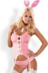 Roze Obsessive Bunny Suit Kostuum - L/XL