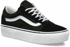 Witte Vans Old Skool Platform Sneakers zwart