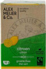 Theezakjes Groene Citroen Thee Grote verpakking 60 zakjes 2 gram Alex Meijer