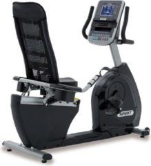 Grijze Spirit Fitness XBR95 Hometrainer Ligfiets - Professionele Fietstrainer - Nieuwste Model 2020 - Top Garantievoorwaarden