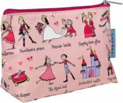 Roze Prinsessen kinder toilettasje 18 x 14 cm - Tyrrell Katz