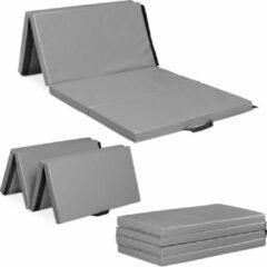 Relaxdays gymnastiekmat opvouwbaar - 200x100 cm - fitnessmat - turnmat - trainingsmat grijs