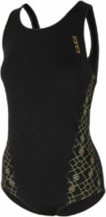 Gouden Zone3 Women's Iconic Classic Swim Costume - Badpakken