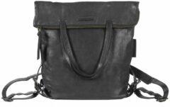 Zwarte Aunts & Uncles Jamie's Orchard Pomelo Backpack / Crossover Bag jet black backpack