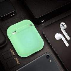Witte Maxxions Airpods Silicone Case Cover Hoesje voor Apple Airpods - Glow in the Dark